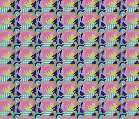 Geometric Summer fabric by pattern_archive on Spoonflower - custom fabric