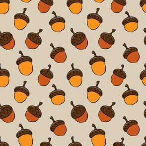 acorns - fall fabric