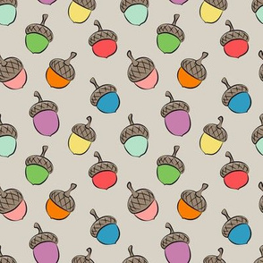 acorns - multi - fall fabric