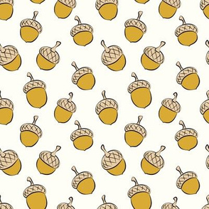 acorns - fall fabric - golden