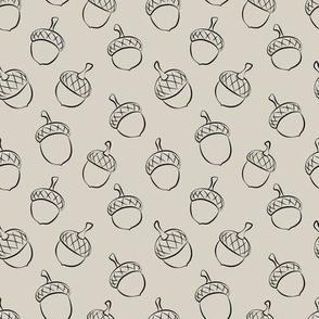 acorns - beige