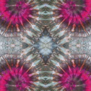 Pink and 50 Shades of Grey Tie Dye