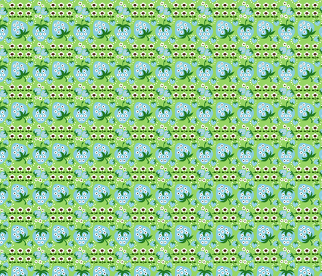 retro strawberry_lime fabric by 257 on Spoonflower - custom fabric