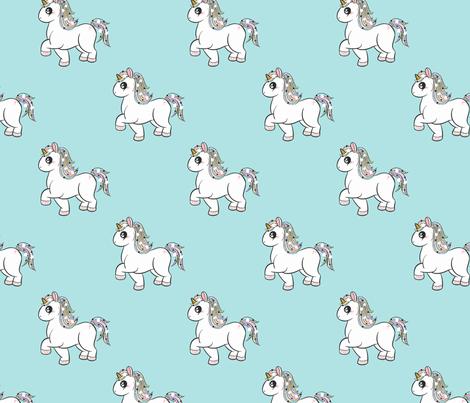 Pastel Unicorns fabric by how-store on Spoonflower - custom fabric