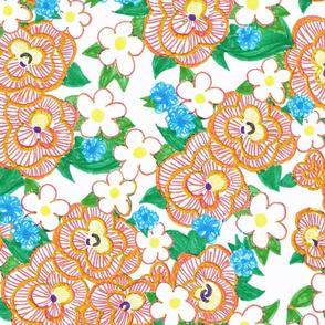 Ruffle Flowers XL - Orange