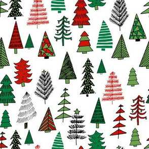 xmas_trees_Christmas trees holiday fabric pattern