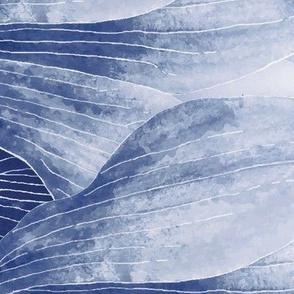 Blue_Magnolia Border Print