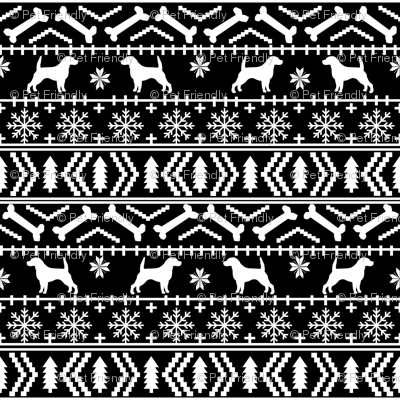 Beagle fair isle christmas sweater dog breed fabrics bw