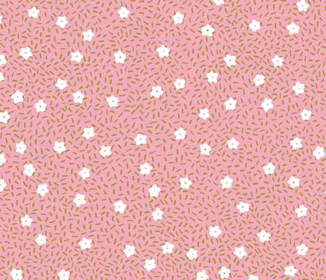 Millefleurre fabric by monster_patterns on Spoonflower - custom fabric