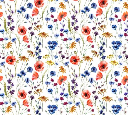 Lg Wildflowers  fabric by mattieanne on Spoonflower - custom fabric