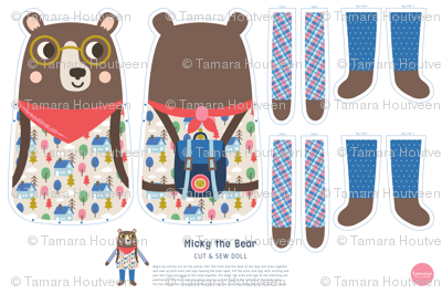 Micky the Bear Cut & Sew Doll