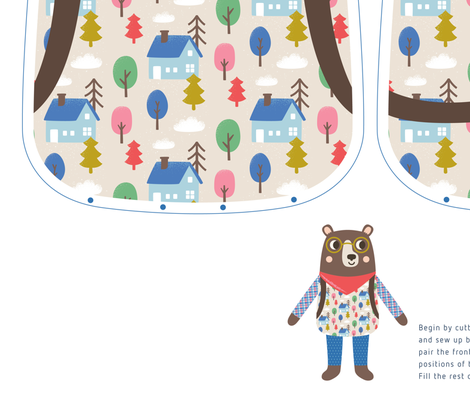 Micky the Bear Cut & Sew Doll fabric by tamarahoutveen on Spoonflower - custom fabric