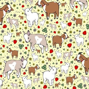 Goats on Yellow