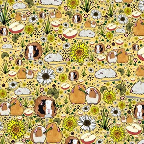 Guinea Pigs on Yellow