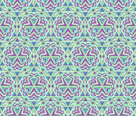 Tribal Hand Drawin Pattern Fabric fabric by cveti on Spoonflower - custom fabric