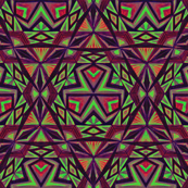 Tribal Pattern Purple Green