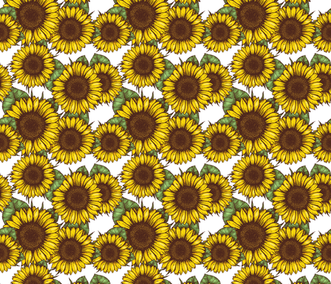 Sunflowers fabric by adehoidar on Spoonflower - custom fabric