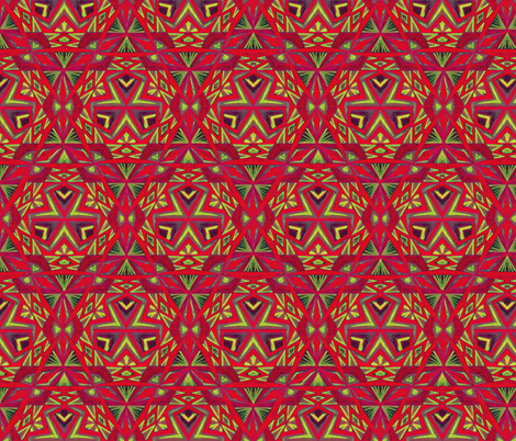 Hand_Drawing_Tribal_Pattern  2 fabric by cveti on Spoonflower - custom fabric