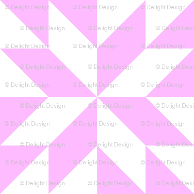Pink and White Half Square Triangles