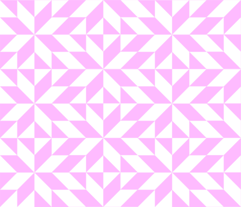 Pink and White Half Square Triangles fabric by delightdesign on Spoonflower - custom fabric