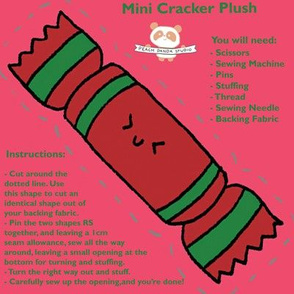 Christmas cracker plush