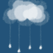 small clouds and rain