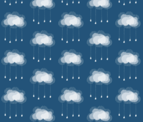 Clouds and Raindrops fabric by twix on Spoonflower - custom fabric