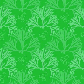 Kelly Green Coral pattern