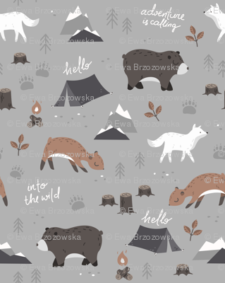Into the wild - grey and brown