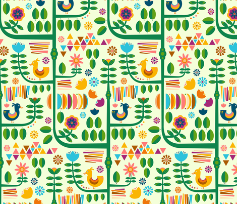 Swedish Flowering Forest fabric by wildnotions on Spoonflower - custom fabric