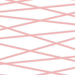 Angled Pink Stripes - Large