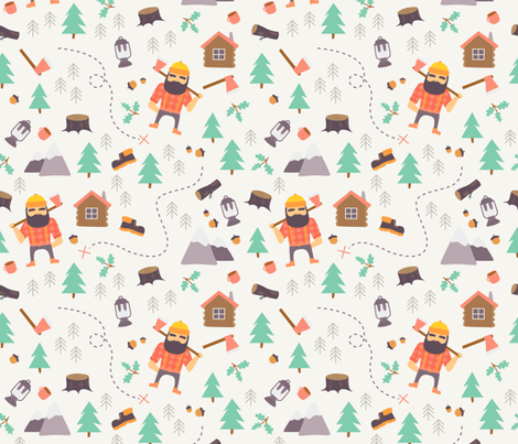 Lumberjack fabric by ewa_brzozowska on Spoonflower - custom fabric