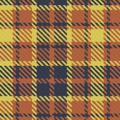 Yellow Terra Cotta and Navy Bayeux Palette Plaid