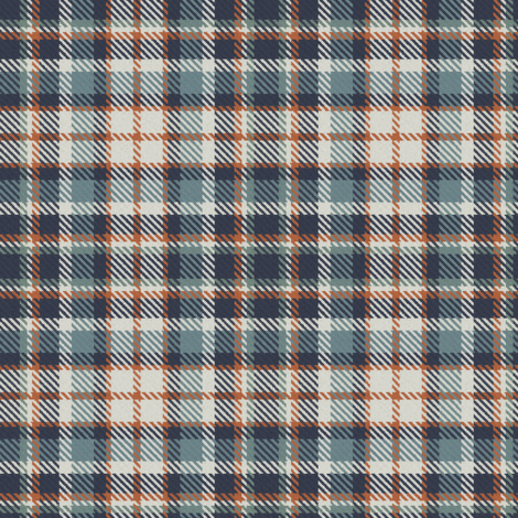 Navy Terra Cotta Blue Gray Linen and Green Gray Bayeux Palette Plaid fabric by eclectic_house on Spoonflower - custom fabric