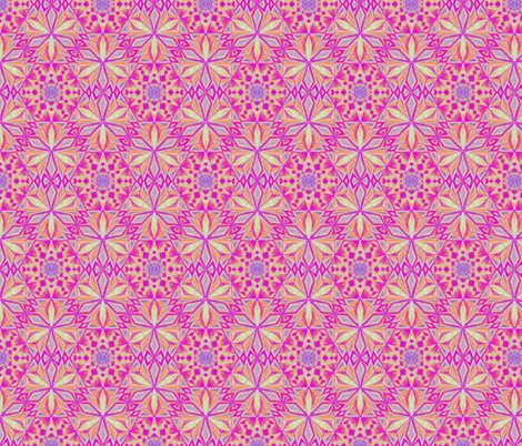 Crystalline Forms Pink fabric by cveti on Spoonflower - custom fabric