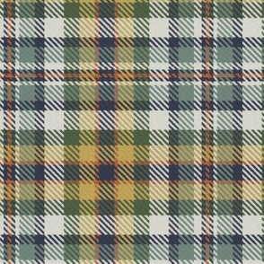 Buff Green Terra Cotta and Navy Bayeux Palette Plaid