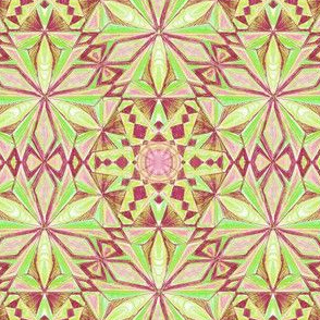 Crystalline Forms Green Pattern