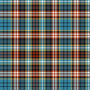 Ogilvy or Drummond of Strathallan tartan, blue ancient, 12""