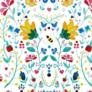 swedish-folk-art-pattern