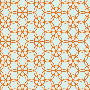Orange Ring Geometric pattern