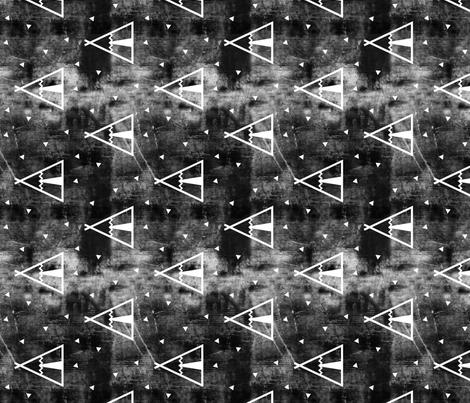 teepee grunge (90) fabric by littlearrowdesign on Spoonflower - custom fabric