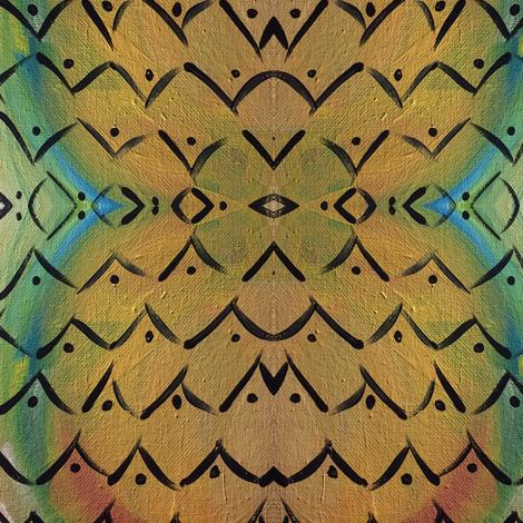 Boho on Dijon fabric by gannpeeler on Spoonflower - custom fabric