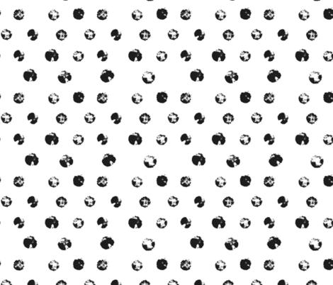 Black Grunge Polka Dots fabric by blackberrylaneco on Spoonflower - custom fabric