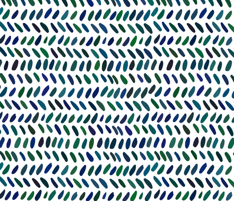 Blue and green ink strokes fabric by kira_culufin on Spoonflower - custom fabric