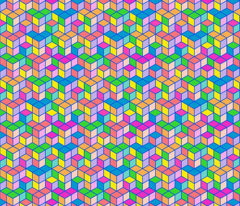 Bohemian geometric hues fabric by bethramsden on Spoonflower - custom fabric