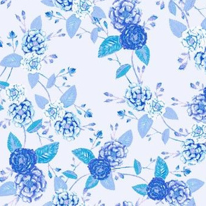 Orient Roses Chinoserieb Blue