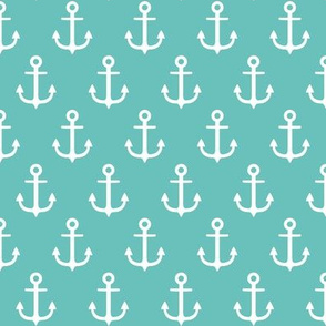 anchors on aqua