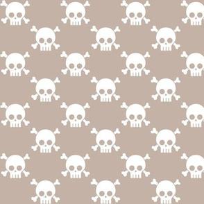 skulls on sand