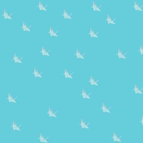 light origami cranes