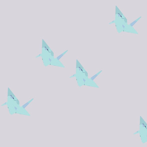 origami cranes_large pattern